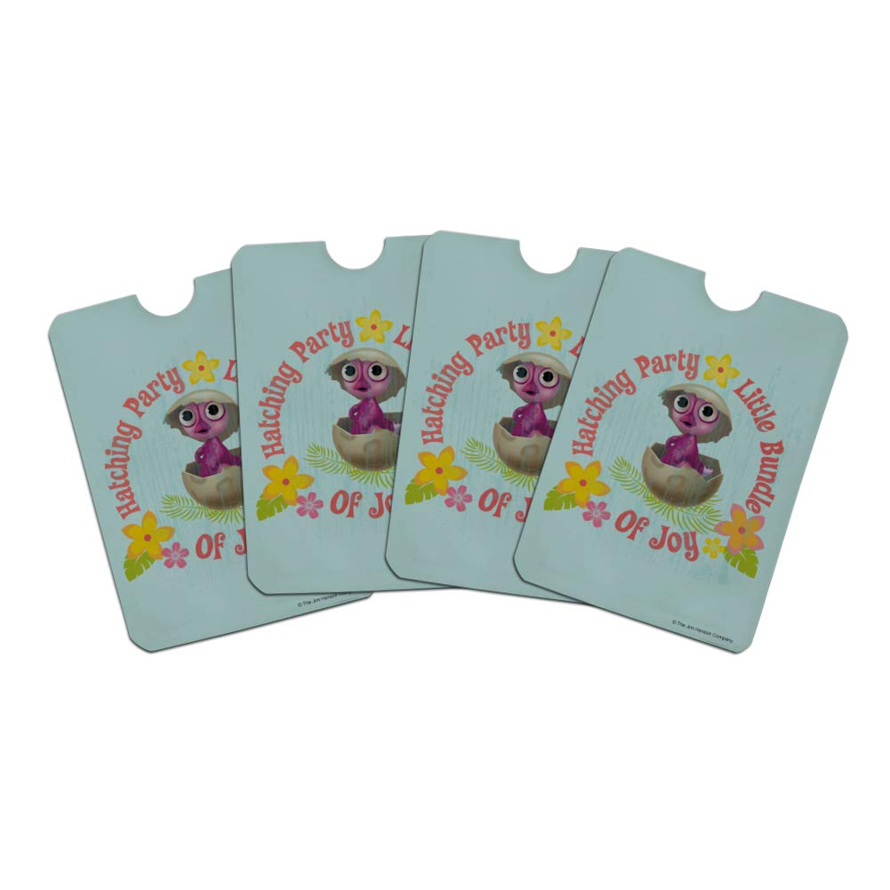 Hatching Party Little Bundle of Joy Baby Shower Credit Card RFID Blocker Holder Protector Wallet Purse Sleeves Set of 4
