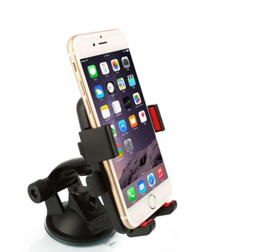 Galaxy S 8 // S7 // S6 Rand S5 6s // 6 Plus 5s Schwarz Demarkt KFZ HandyHalterung 360 Grad Universal Sauger Saugnapf Windschutzscheibe Autohalterung Auto Halter f/ür iPhone X // 8 7 // 7Plus