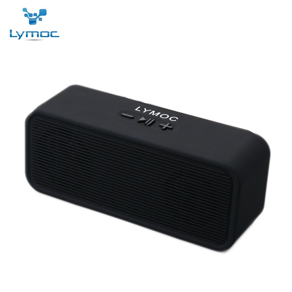 LYMOC Classical Bluetooth Speaker Box Wireless Bluetooth Loudspeaker Box Tactility Bass Cannon Computer Audio Inserts TF Card U-Disk AUX Reception Audio for Phone (Black)