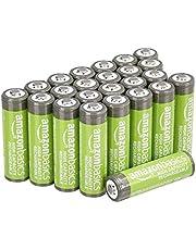 Amazon Basics 24 pilhas AA de alta capacidade 2.400 mAh recarregáveis, pré-carregadas, podem ser recarregadas mais de 100 vezes
