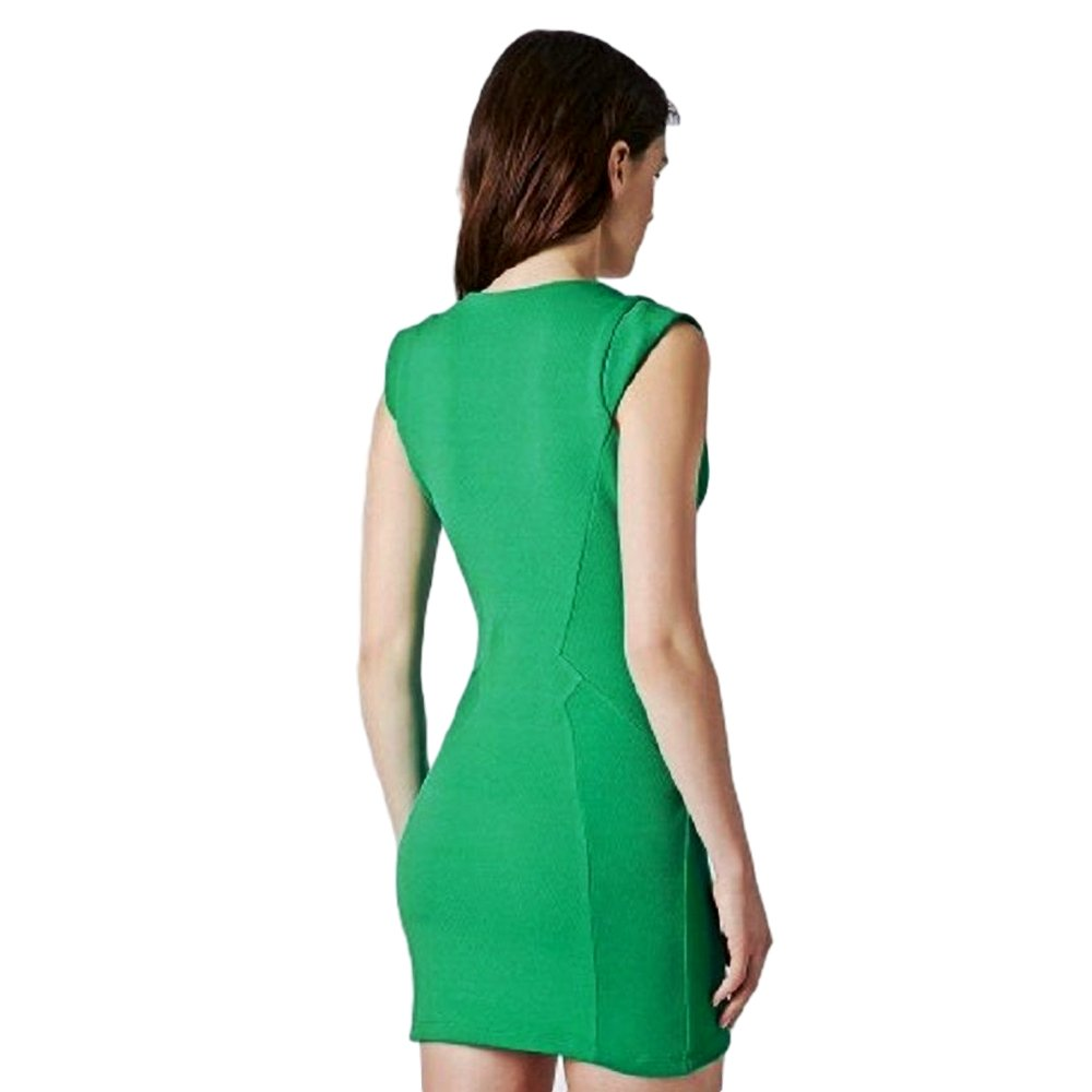 Topshop Stretchy Bodycon Dress with Cap Sleeves /& Visible Front Zip Two Colours