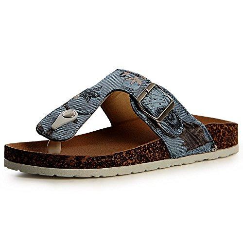Bleu Clair Sandales Femmes topschuhe24 Sandalettes Xqw7Pgtw