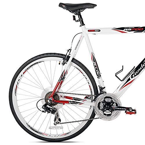 Giordano RS700 Hybrid Bike (54cm Frame), Red/White/Black