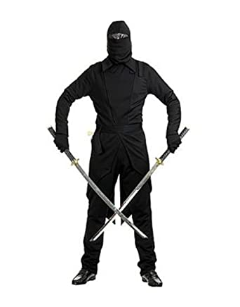 Amazon.com: GI Ninja Adult Costume Black - X-Small: Clothing
