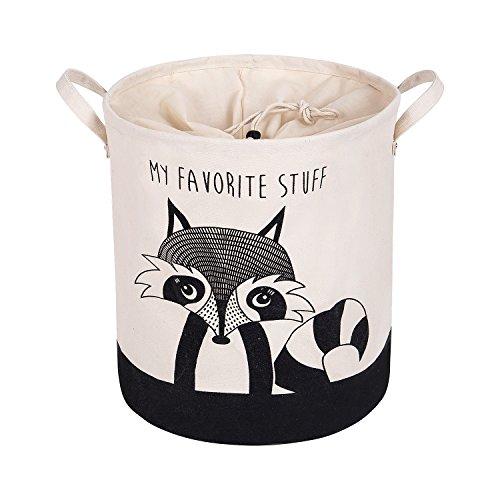 XDeer 100% Cotton Canvas Storage Basket, Drawstring Cloth dustproof Design, Home Locker, Baby Toy Storage Box, Living Room Locker ()