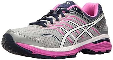 ASICS Women's GT-2000 5 Running Shoe, Mid Grey/White/Pink Glow, 5 M US