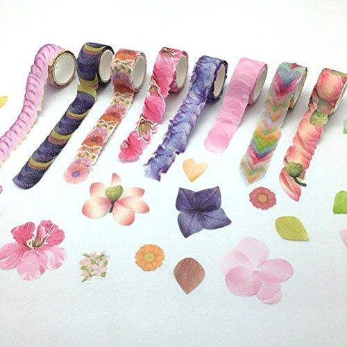 Calendula Roll - VORCOOL DIY Petal Stickers Masking Roll Tape Decorative Scrapbooks Stickers Craft Ornament (Calendula)