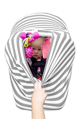 Premium 4 In 1 Car Seat Cover Baby Car Seat Canopy Nursing C