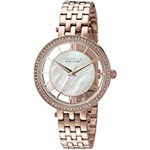 Caravelle New York Women's Quartz Stainless Steel Casual Watch, Color:Rose Gold-Toned (Model: 44L171)