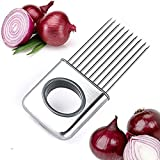 Kitchen Aid LifeJoy Onion Holder Vegetable Potato Cutter Slicer Gadget Stainless Steel Fork Slicing Odor Remover Kitchen Tool Aid Gadget Cutting Chopper (Stainless Steel)