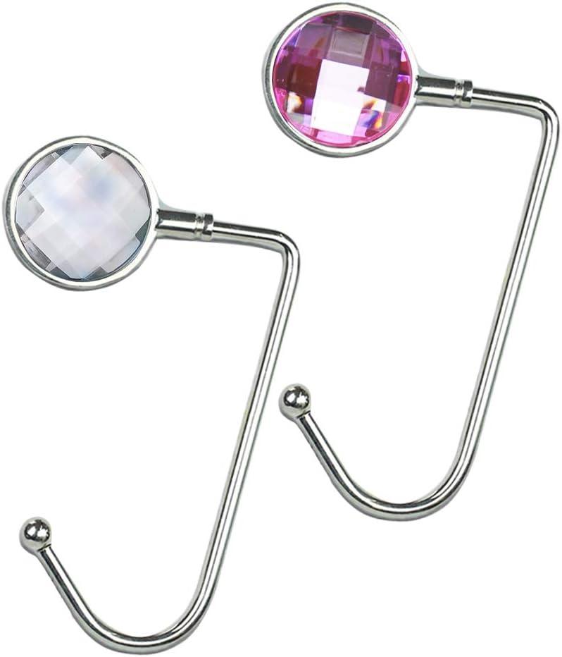 Cheliz Purse Hook Set of 3 2-Babysbreath2 Hanger Table Hanger Holder Womens Bag Storage