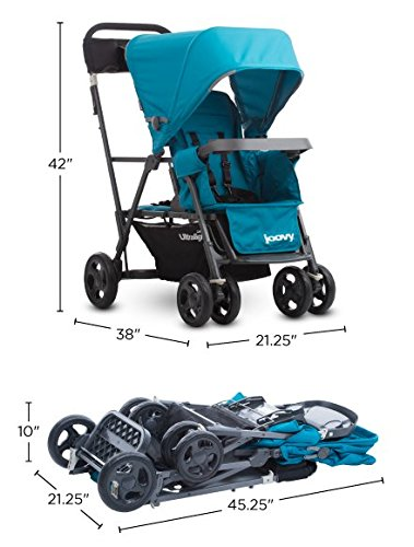 JOOVY Caboose Too Ultralight Graphite Stand-On Tandem Stroller, Black by Joovy (Image #4)