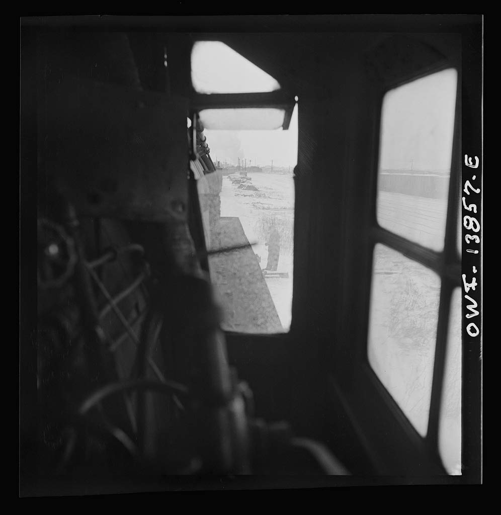 Reproduced Photo of Freight Operations on The Indiana Harbor Belt Railroad Between Chicago, Illinois and Hammond, Indiana. View Through The Window of The engineer39;s Side of 1943 Delano C Jack 18a