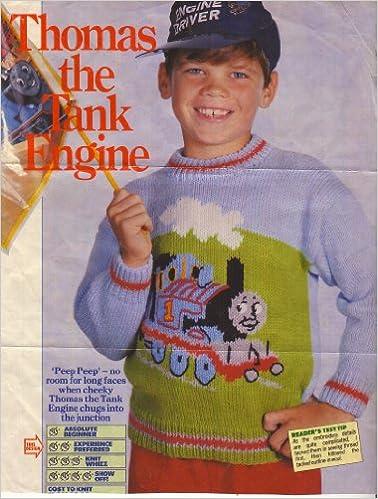 Childrens Thomas The Tank Engine Motif Sweater Knitting Pattern To