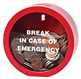 Emergency Money Bank - Fun Twist on Classic Piggy Coin Bank for Girls Boys Children