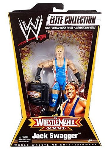 Mattel WWE Wrestling Exclusive Elite Collection Action Figure Wrestle Mania XXVI Jack Swagger (Jack Swagger Toys)