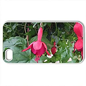 Fabulous greenhouse 30 - Case Cover for iPhone 4 and 4s (Flowers Series, Watercolor style, White)