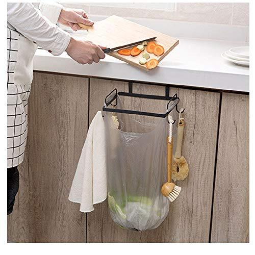 - MOVEmen Storage Rack Kitchen Trash Bag Holder Cabinets Cloth Rack Towel Rack Paper Towel Holder Under Cabinet Bathroom Wrought Iron Storage Rack Tissue Rack Drain Rack Support Jewelry Stand (Black)