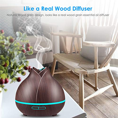 URPOWER Essential Oil Diffuser, 10+ for Oils 2 Modes, Timer Setting, Humidifiers for Home, Office