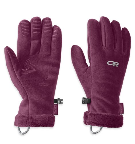 Outdoor Research Women's Fuzzy Gloves, Orchid, Large