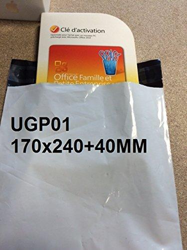Lot de 1000 Enveloppes pochettes dexp/édition plastiques blanches opaques A5 170 x 240 mm 50 microns solide 17x24 cm Enveloppe fine 5g inviolable et imperm/éable. l/ég/ère