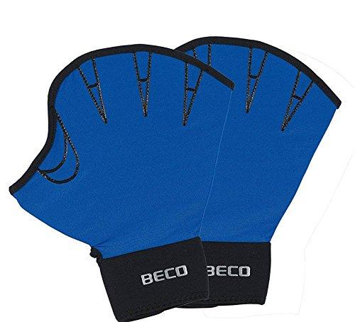 BECO Neoprenhandschuhe offen Schwimmhandschuhe Wasser Training blau L