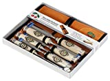 Two Cherries 500-1575 6-Piece Chisel Set with Custom Leather Roll