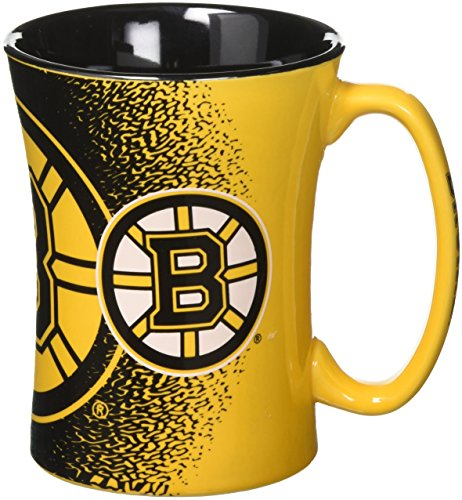 NHL Boston Bruins Mocha Mug, 14-ounce, Yellow