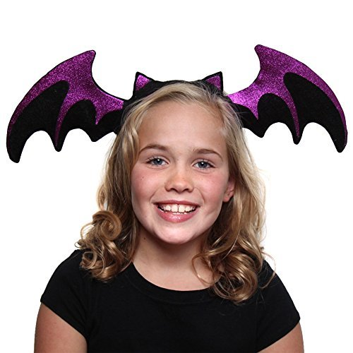 Purple Glitter Bat Headband]()