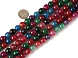 10mm Round Gemstone Mixed Colour Crackle Agate Beads Strands 15 Inch