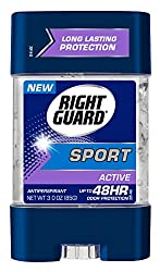 Right Guard Sport Antiperspirant Gel, Active, 3 Ounces (Pack Of 6)