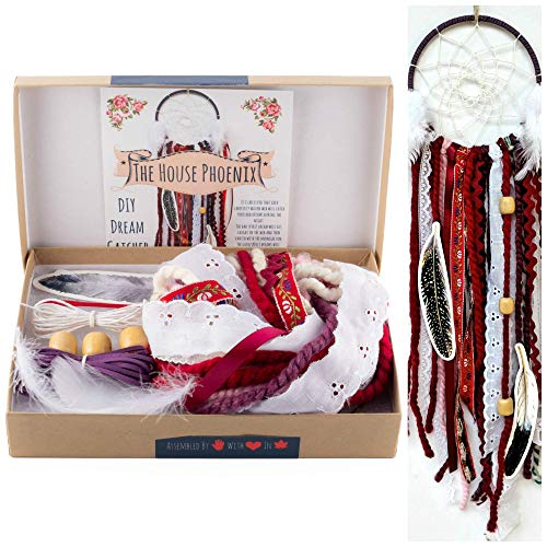 DIY Dream Catcher Kit Red Make Your Own Craft Project Girls Gifts from The House Phoenix