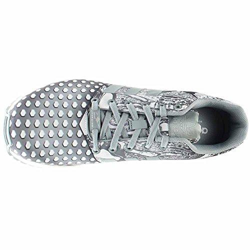 Adidas Zx Flux (9.5, Blanco / Ngtfla / Cblack) Light Grey/ White