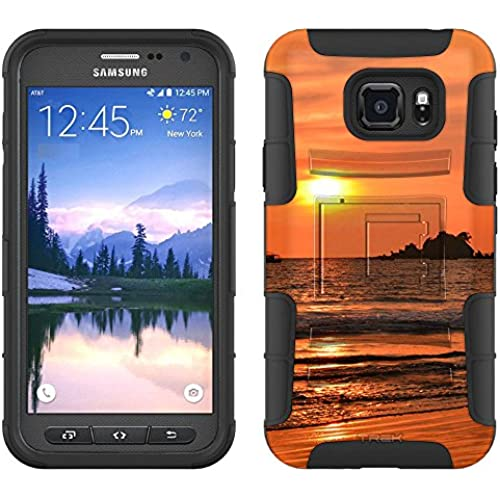 Samsung Galaxy S7 Active Armor Hybrid Case Sunset at the Beach 2 Piece Case with Holster for Samsung Galaxy S7 Active Sales