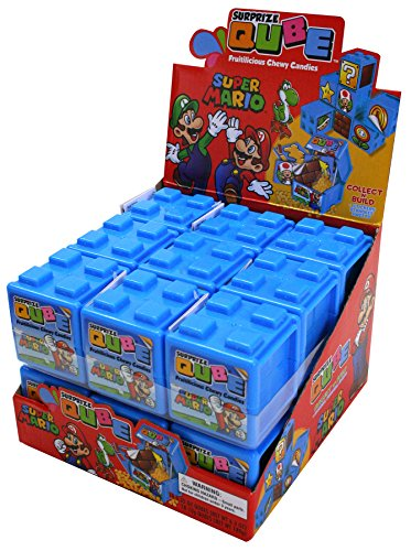 Nintendo Super Mario Surprize Qube with Chewy Candy and Stickers (Pack of 18) (Super Mario Surprise Eggs)