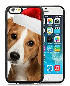 Customized Design iPhone 6 Case,Christmas Dog Black iPhone 6 4.7 Inch TPU Case 10