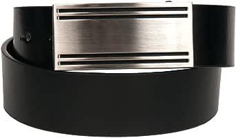 Mens New 1.5 Inch 4 Line Buckle Black Belt by Landes Size 38