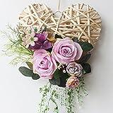 Purple Rose Wreath/Door Wreath/Spring Wreath for Door/Mother's Day Gift Rustic Home Decor Country House Decor/Flower Wreath