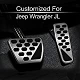 Gas and Brake Pedal Cover for 2019 2018 Jeep Wrangler JL 2-Door 4-Door 82215335, by MECHCOS