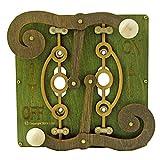 Green Tree Handmade Kinetic Steampunk Working Gears Double Switch Plate 8006B Green