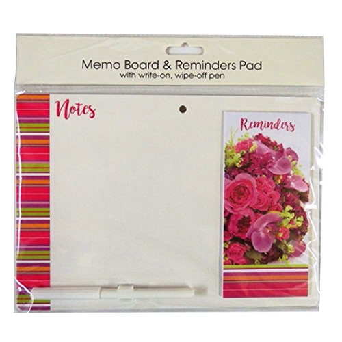Notes, To Do List Magnetic Notepad - Flowers - 60 Sheets - Size 11.2' x 4' Tallon