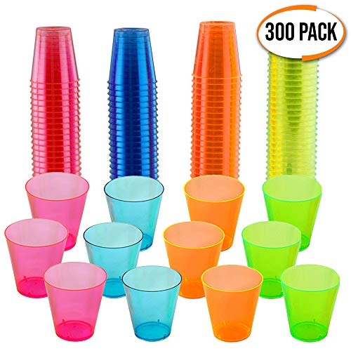 Colourful Disposable Neon Glasses Ounce product image