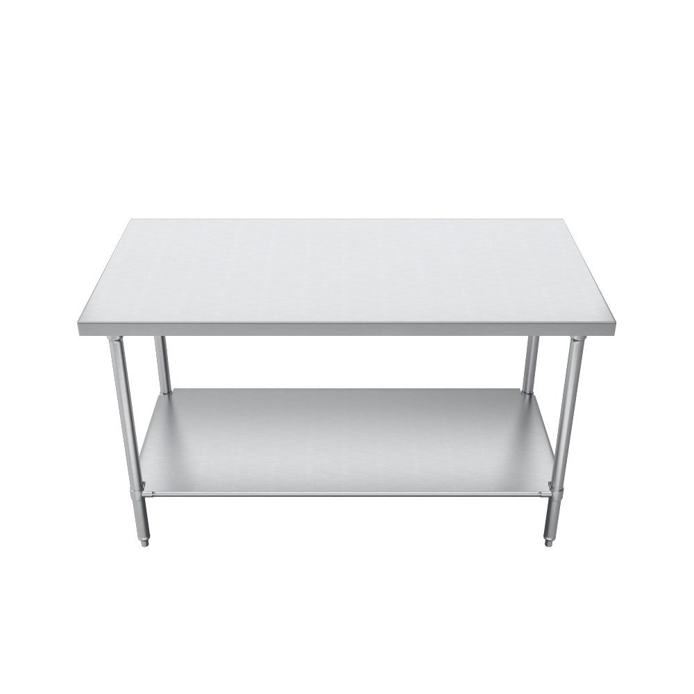 Elkay Commercial Grade NSF Stainless Steel Table with Adjustable Height Feet and Undershelf, 36'' x 24'' by Elkay Foodservice (Image #2)