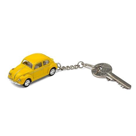 corpus delicti :: Llavero - el Regalo Ideal para Todos los fanáticos de Beetle - como el VW Escarabajo / VW Beetle de Metal (Amarillo)
