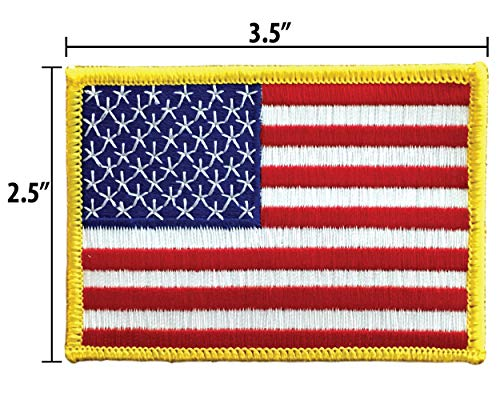 USA US American Embroidered Patch x Iron On or