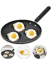 Liten non-stick stekpanna, NALCY stenhärledd beläggning omelettpanna, smidd aluminium djup stekpanna, induktionsstekpanna med rostfritt stålhandtag, 13 cm