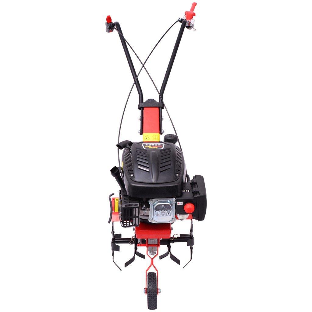 vidaXL Motocultivador de Gasolina 5 HP 2, 8 kW Rojo: Amazon.es: Jardín