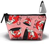 Sumo Wrestling Cosmetic Bag Handbag/Wrist Bag/Clutch Bag/Cell Phone Bag/ Ladies Purse