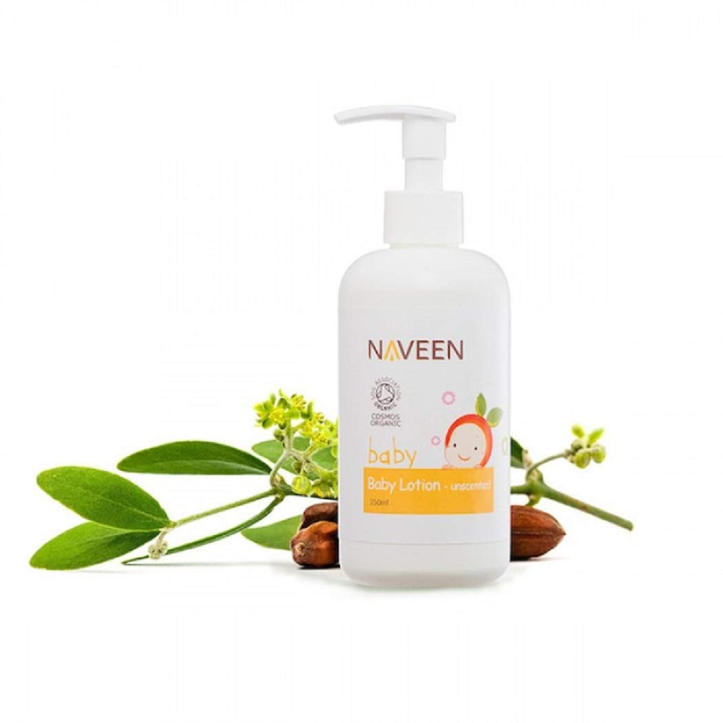 NAVEEN Baby Lotion - Unscented 250ml-Provides a Layer of Protection for Dry, Sensitive Skin for Both Babies and Even for Grown-ups. by NAVEEN