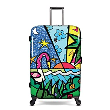 Heys USA Luggage Britto Palm 30 Inch Hardside Spinner, Palm, 30 Inch